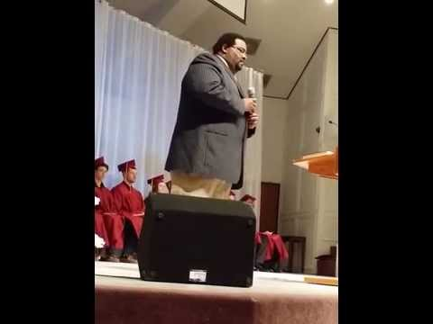 Rev Ken Moore SINGING @ Plaza Heights Christian Academy Graduation-Holy City