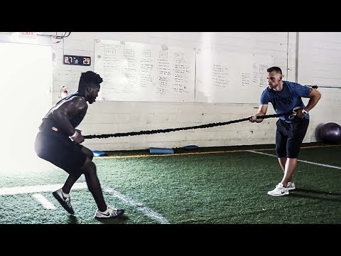 Change of Direction and Upper Body Off-Season Workout | Overtime Athletes