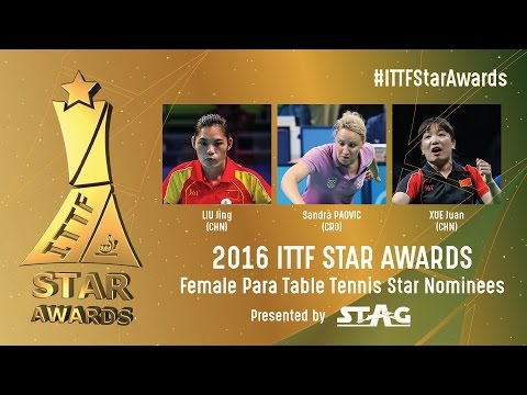Who will be the 2016 Female Para Table Tennis Star?