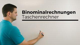Binomialrechnungen mit Taschenrechner, Casio-fx, Binomialverteilung | Mathe by Daniel Jung