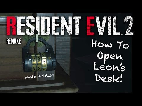 Resident Evil 2 Demo | Leon's Desk Puzzle Walkthrough SOLVED | What's Inside? | Plus Easter Eggs