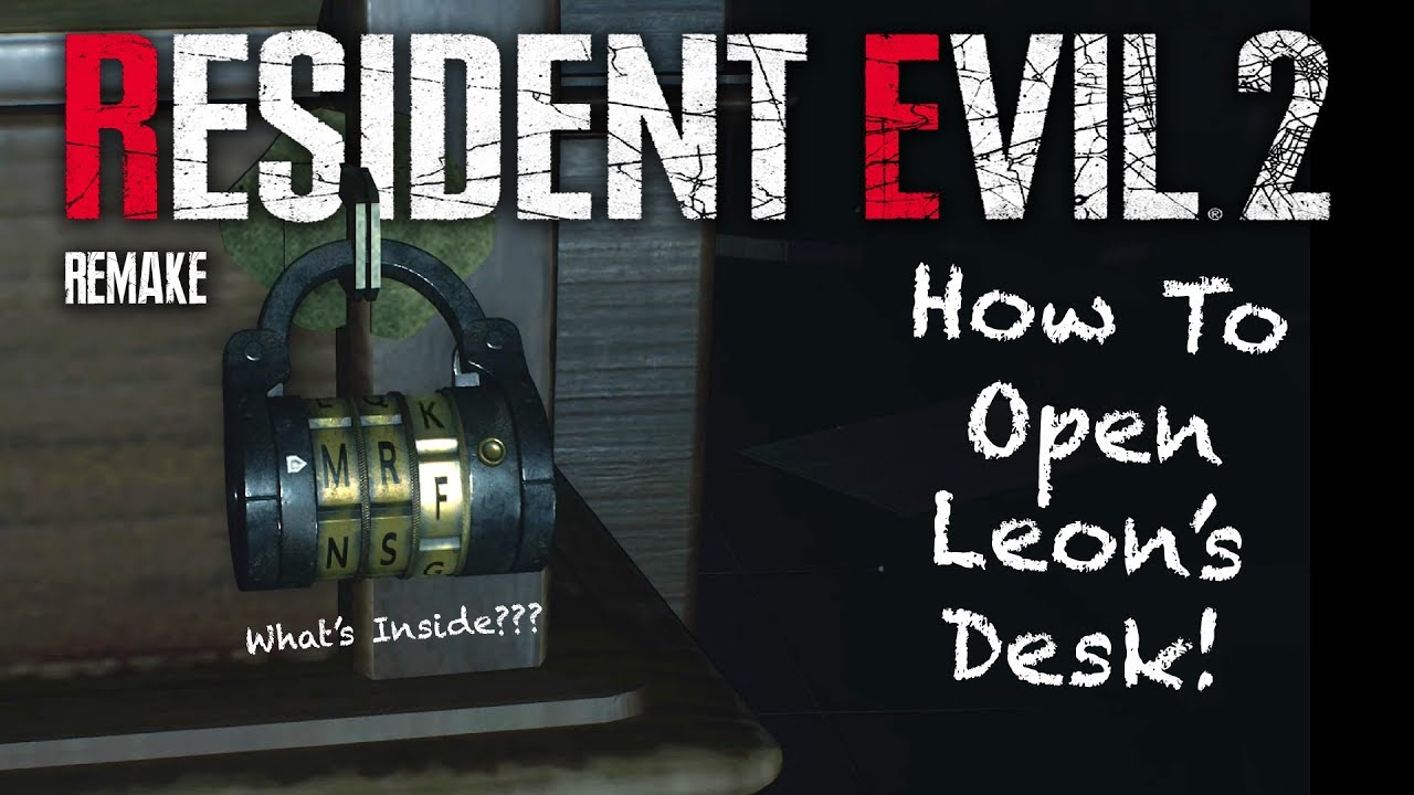 Resident Evil 2 Remake Leon S Desk Puzzle Walkthrough Solved