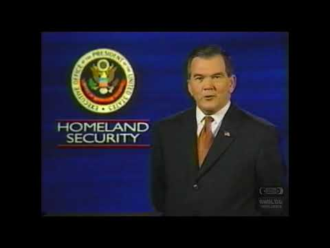 Homeland Security Announcement | 2001 | Tom Ridge
