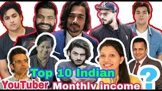 Top 10 Indian YouTuber 2018| highest earning in india
