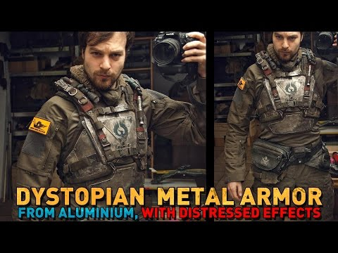 POST-APOCALYPTIC METAL ARMOR technique: great for dystopian (or Mando) costumes!