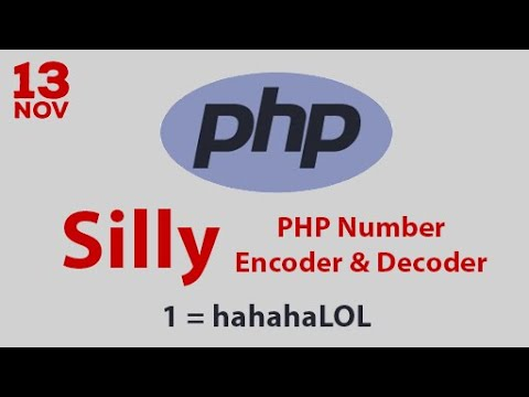 Silly PHP Number Encoder and Decoder Program