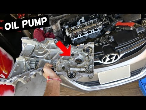 HOW TO REPLACE OIL PUMP ON HYUNDAI ELANTRA i30 TUCSON 1.8 2.0