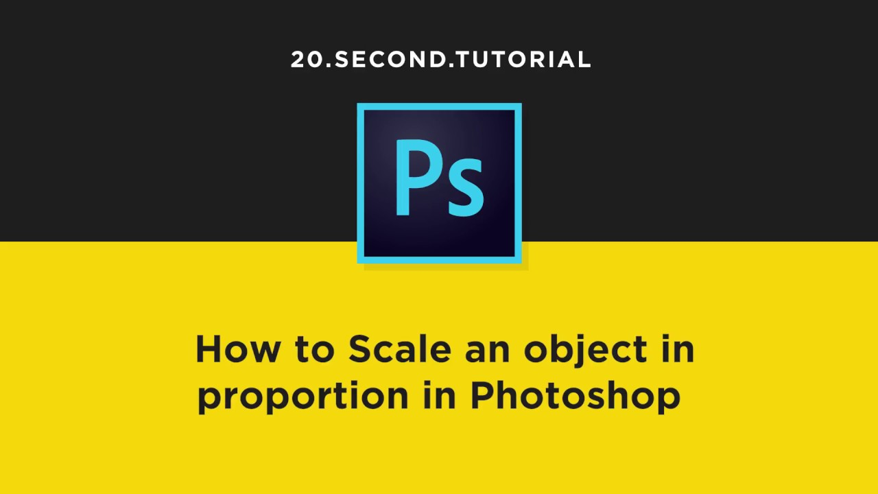 Scale images proportionally in Photoshop | Adobe Photoshop Tutorial #16