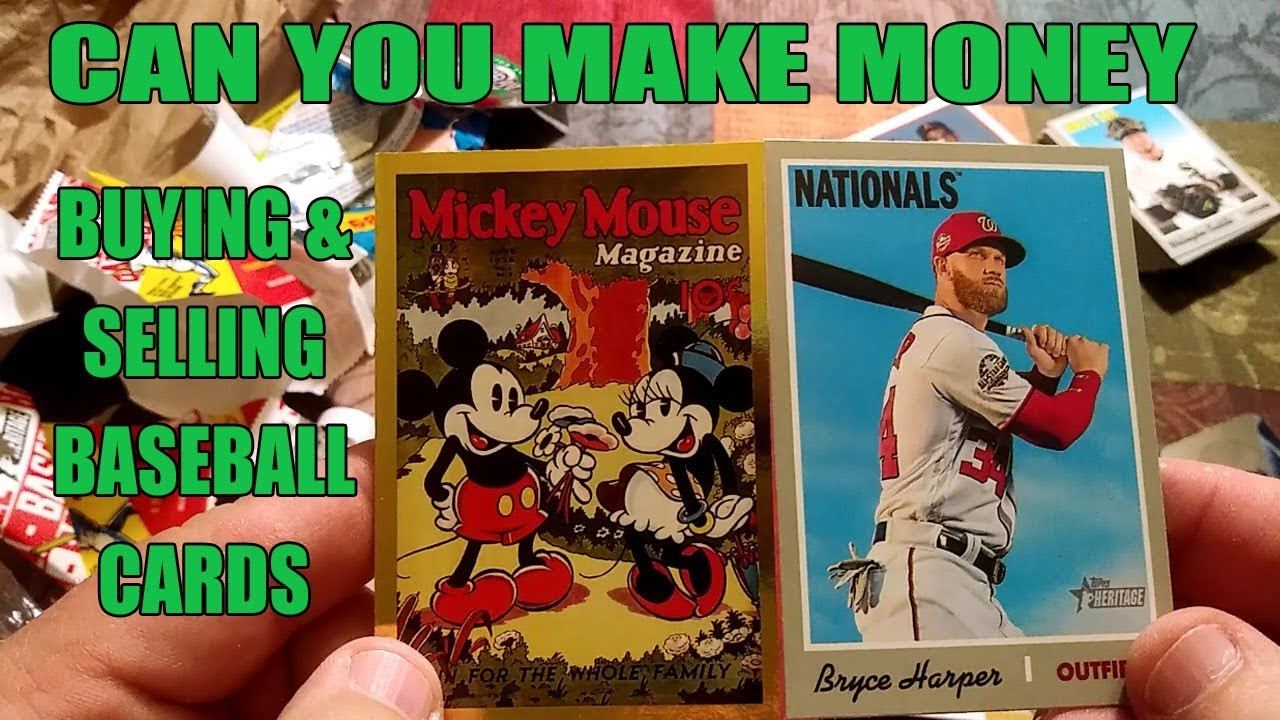 Making Money Buying Selling Baseball Cards Lets Talk