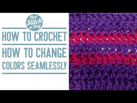 how to crochet how to change colors seamlessly