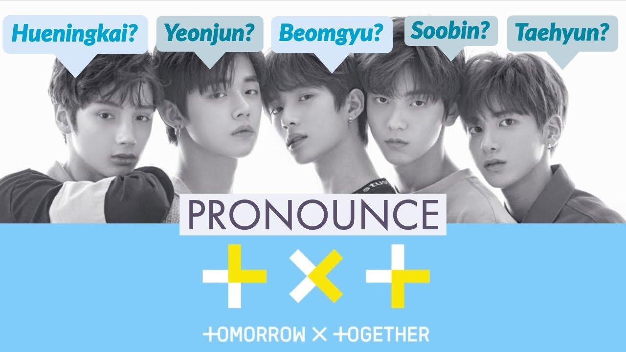 Members Name: How To Pronounce BigHit's TXT Members' Names In Korean