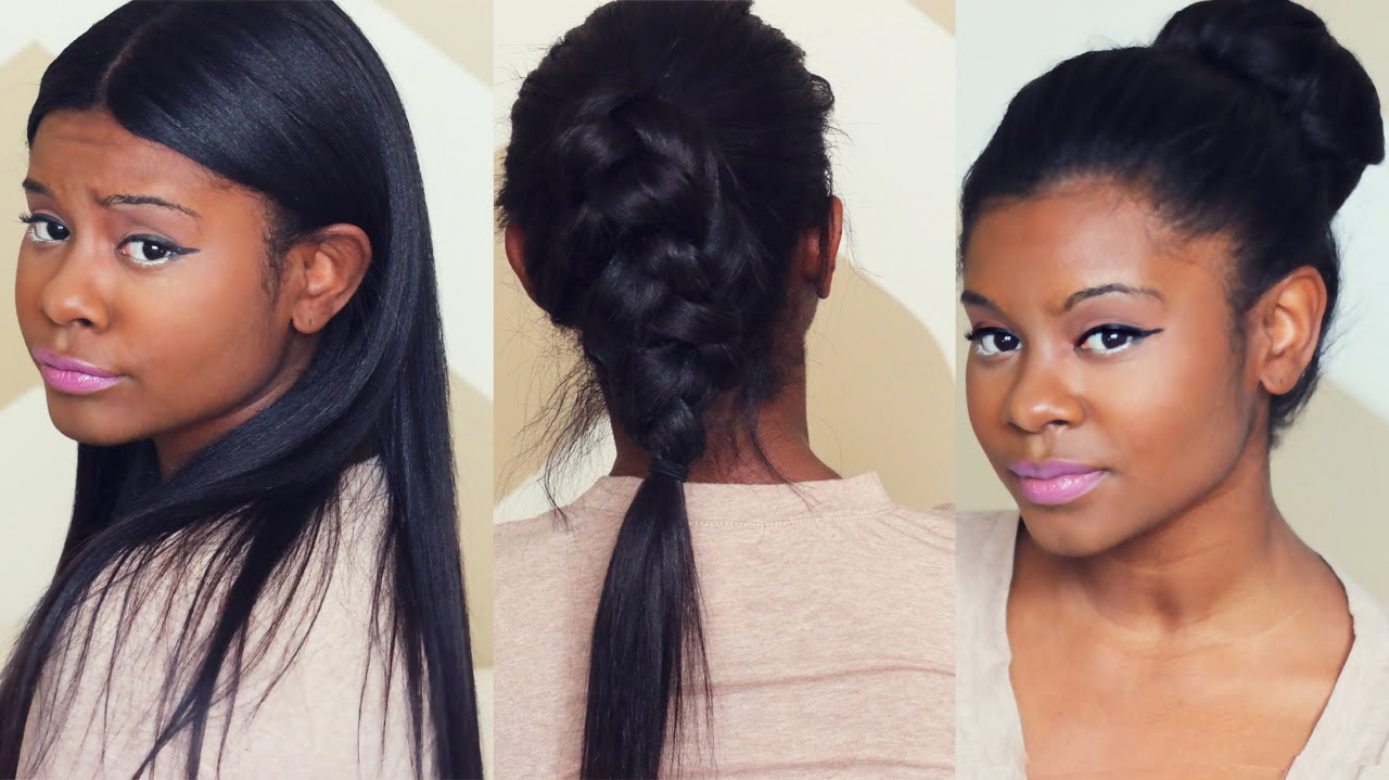 SLEEK FALL HAIRSTYLES with CLIP IN EXTENSIONS | Better Length Light ...