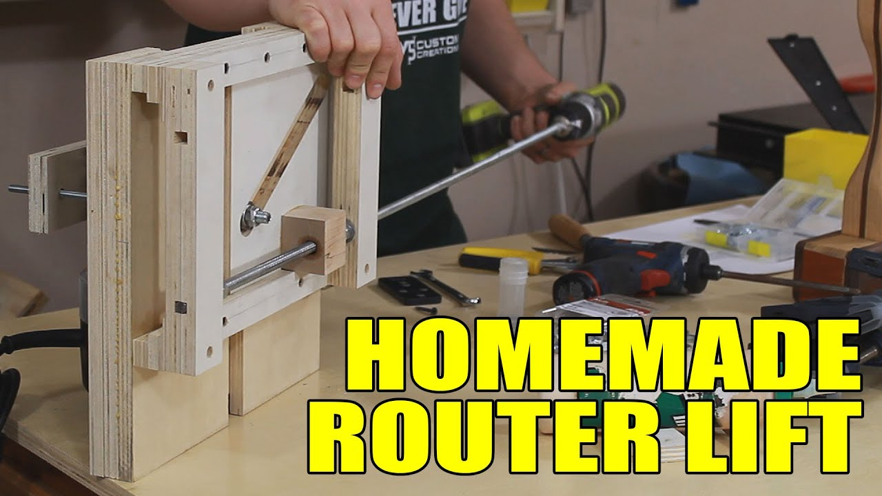 Homemade Router Table Lift