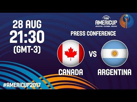 Canada v Argentina - Press Conference - FIBA AmeriCup 2017