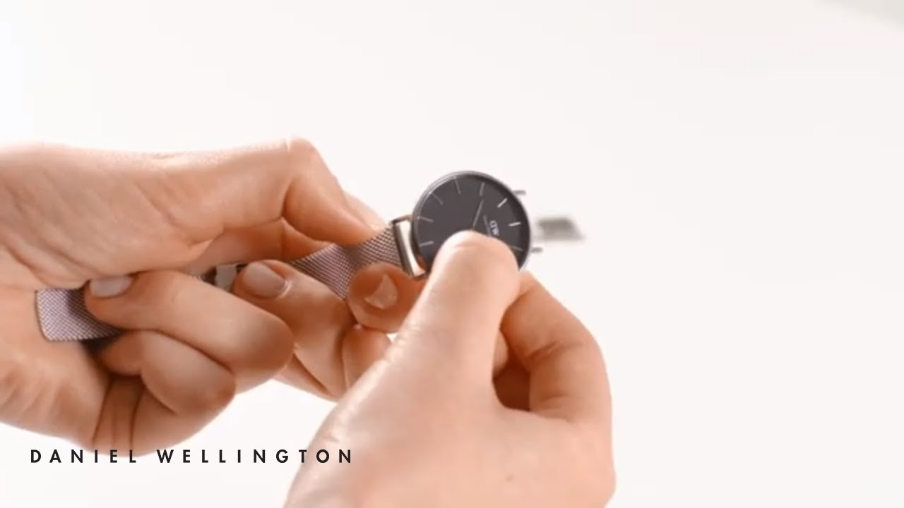 How to change your strap from Leather to Mesh - Daniel Wellington