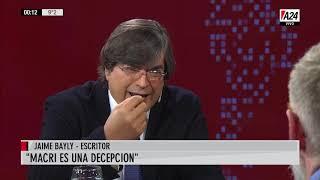 """Jaime Bayly: """"Si gana Alberto Fernandez lo va a hacer mejor que CFK"""""""