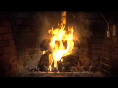 fireplace-&-christmas-music