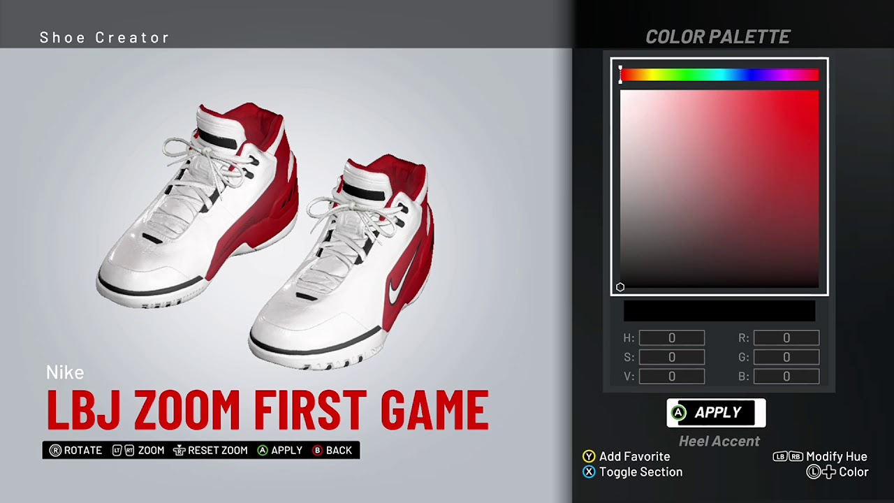 fa76c7f9a28b0 NBA 2K19 Shoe Creator - Nike LeBron Zoom Generation