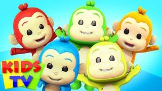 Five Little Monkeys | Five little Babies | Kids Tv Nursery Rhymes