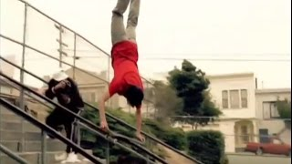 Feelin it! Cairo's Handrail Handstand  by Krux Trucks