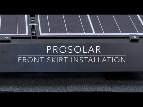 Prosolar 174 Front Skirt Installation Youtube