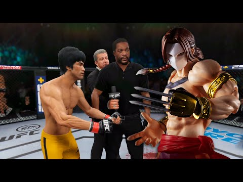 UFC 4   Bruce Lee Vs. Fighter Vega [Tekken] (EA Sports UFC 4)