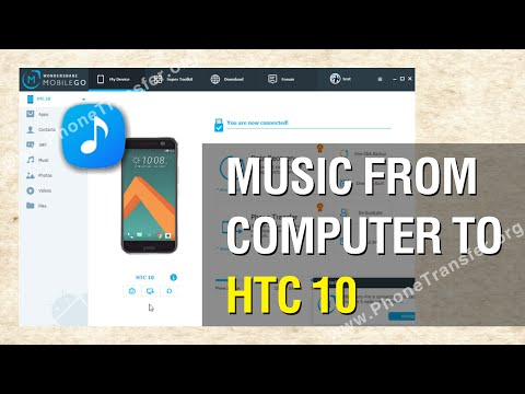 How to Transfer Music from Computer to HTC 10 in Batch
