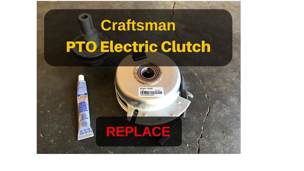 Craftsman Lawn Tractor Pto Electric Clutch Replace