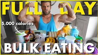 Full Day of Clean Bulk Eating (5000+ Calories!)  Bulk Bros
