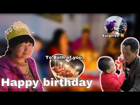 BIRTHDAY SURPRISE | mother in-law and father in-law | Yenxi Ye Channel