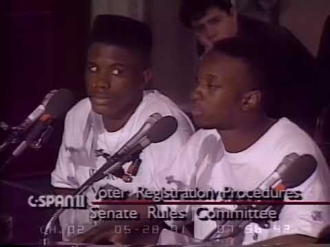 Young MF DOOM (Zev Love X of KMD) Speaking To U.S. Senate on Importance of Youth Voting Registration