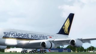 FSX A380 Smooth Landing ( HD )