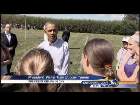 President Obama Stops By Tully High School