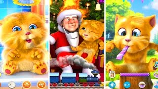 Говорящий Котик 🐱 🐱 Джинджер (Рыжик) и Дед Мороз Детский игровой мультик- игра