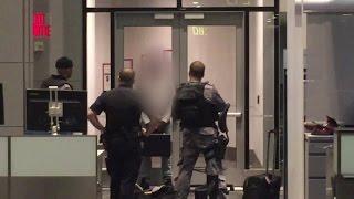 Police Taser man at Toronto airport