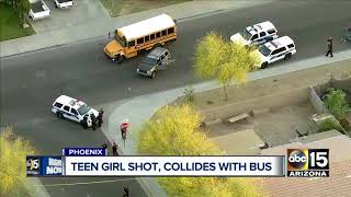 Teen girl in critical condition after being shot in Phoenix