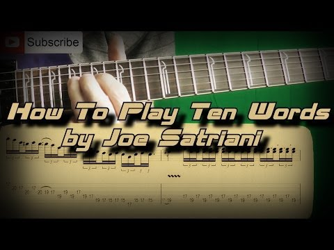 How to Play Joe Satriani - Ten Words Как играть, Guitar Lesson (Part 1)