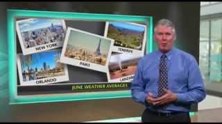June holiday weather - Lanzarote, Paris, Tenerife, Orlando, New York