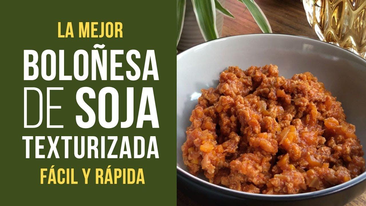 Sojañesa Salsa Boloñesa De Soja Texturizada De Mercadona Fácil Y Rápida Receta Cocina Vegana