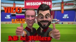 Magie RCB ' s rescue   Animierte Parodie-video   VIRAT Anrufe AB DE VILLIERS   speichern RCB   IPL-2019