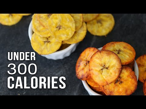 BAKED PLANTAIN CHIPS UNDER 300 CALORIES