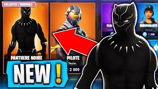 "NEW SKIN ""BLACK PANTHER"" DISPONIBLE ON FORTNITE BATTLE ROYALE!!"