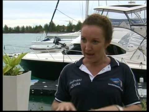 SBC (Seychelles Broadcasting Corporation) News Report on our outdoor boatshow. (French)