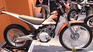 2015 Scorpa TY-125 Cross Bike - Walkaround - 2014 EICMA Milan Motorcycle Exhibition
