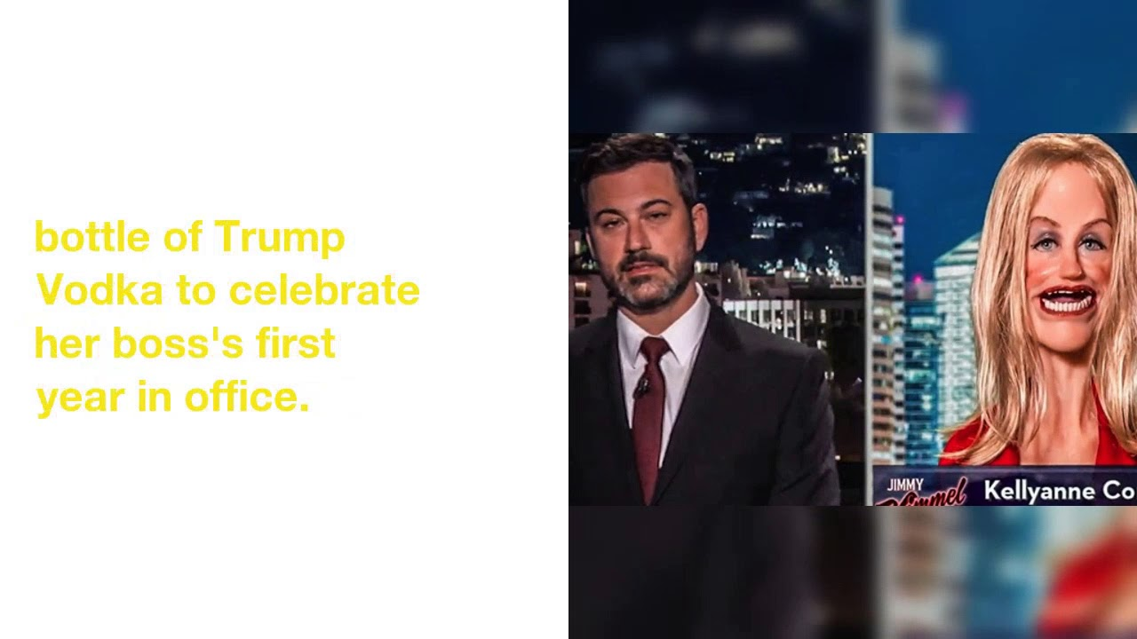 'Spokespuppet' Kellyanne Conway Celebrates Trumpaversary With Jimmy Kimmel