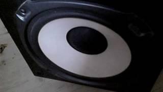JVC SP-X 660 Bass Test
