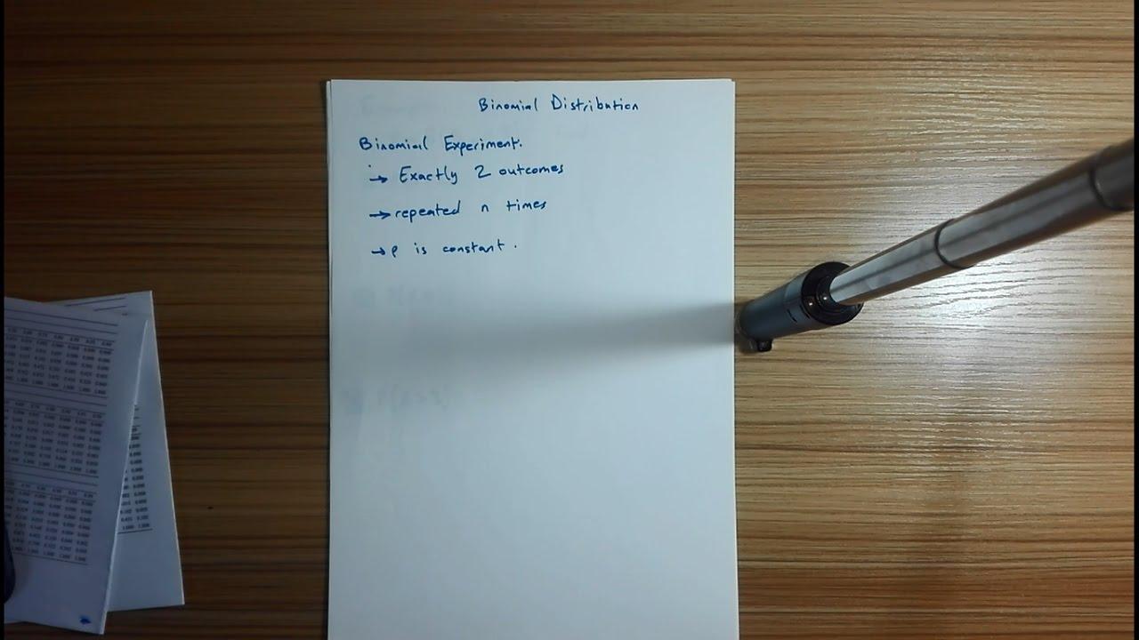 Binomial Distribution شرح + امثلة