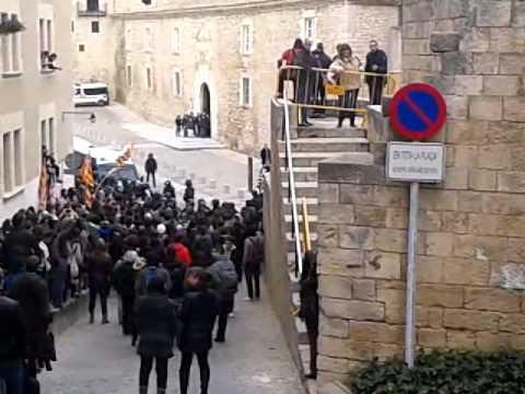 Manifestació a la Universitat de Girona