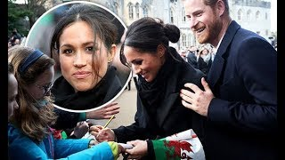 Meghan Markle breaks royal rules during her first visit to Cardiff with Prince Harry