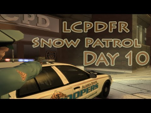 GTA IV -- LCPDFR: Snow Patrol -- Day 10